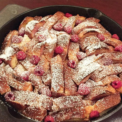 Raspberry French Toast Breakfast Casserole