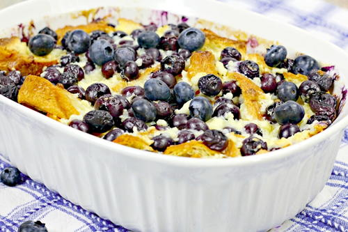 Blueberry Croissant Breakfast Casserole
