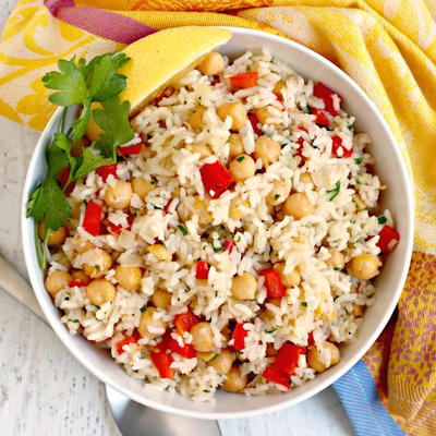 Chickpea Rice Pilaf