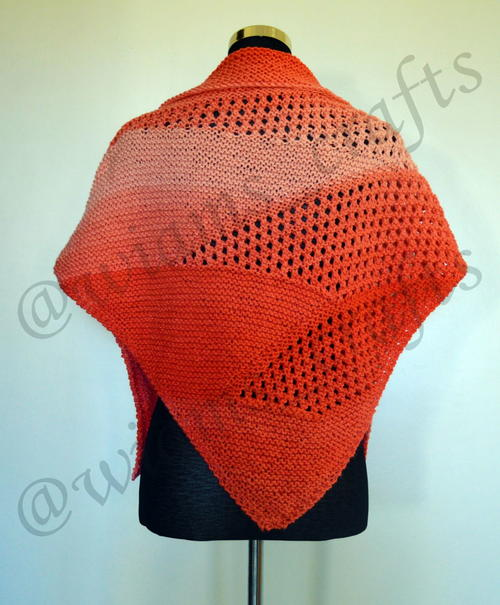 Coral Bubbly Waves Shawlette
