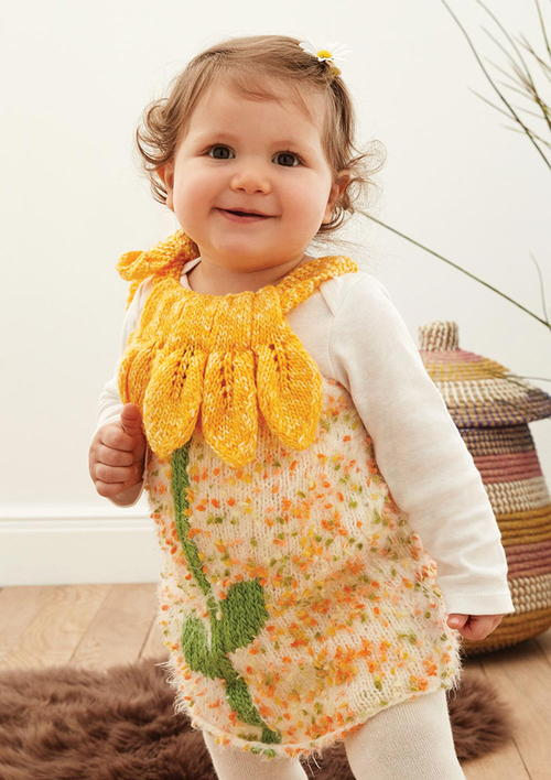 Free Knitting Pattern for Baby Dress