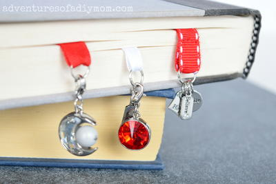Ribbon Bookmarks with Charms