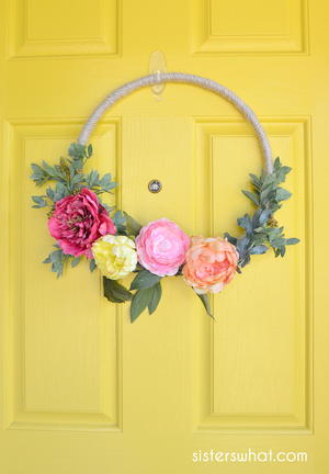 Easy Modern Summer Wreath