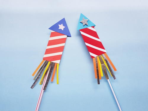 Paper Firecracker Craft for the 4th of July