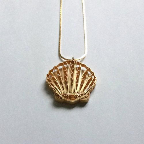 Quilled Scallop Shell Necklace