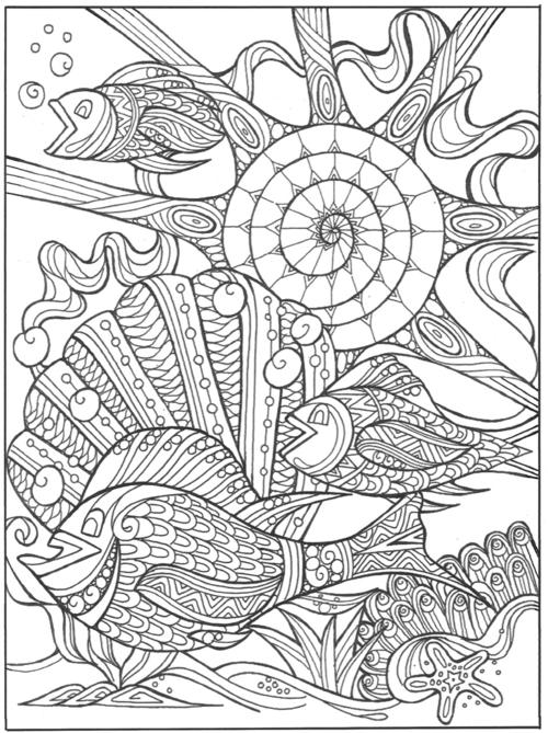 Under the Sea in Paradise Coloring Page