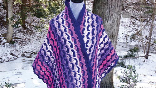Groovy Crochet Shell Stitch Shawl