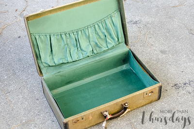 Vintage Suitcase Turned Portable Suitcase Bar