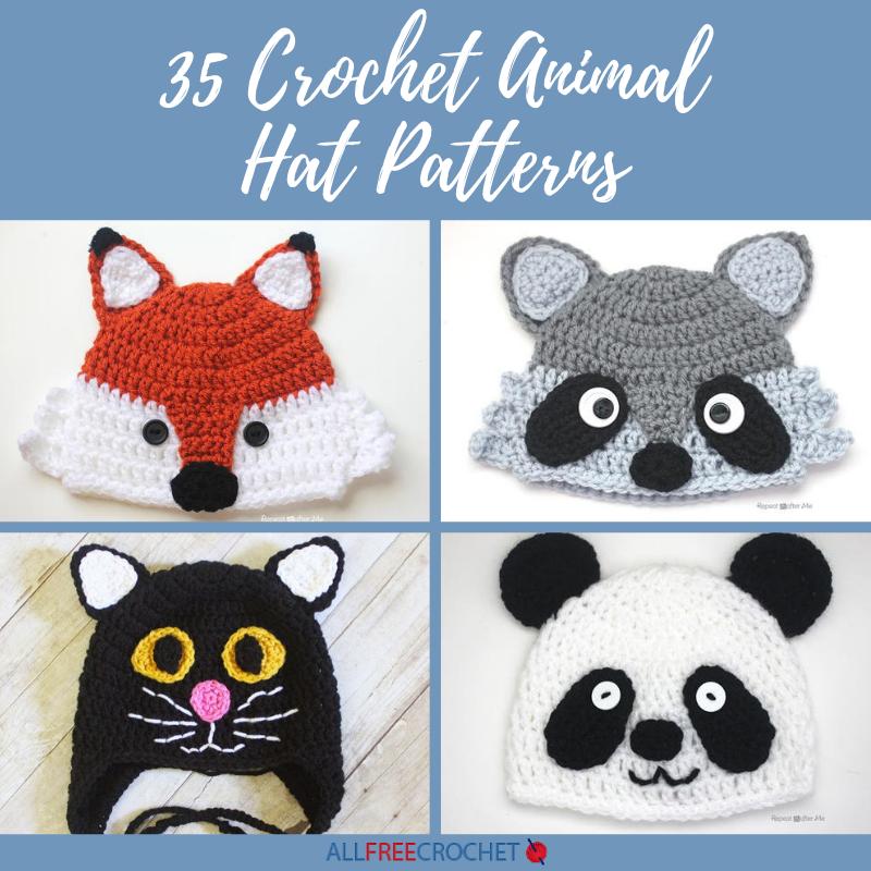 35 Crochet Animal Hat Patterns Allfreecrochet Com