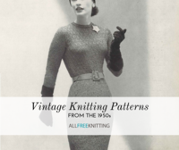 18 Vintage Knitting Patterns from the 1950s