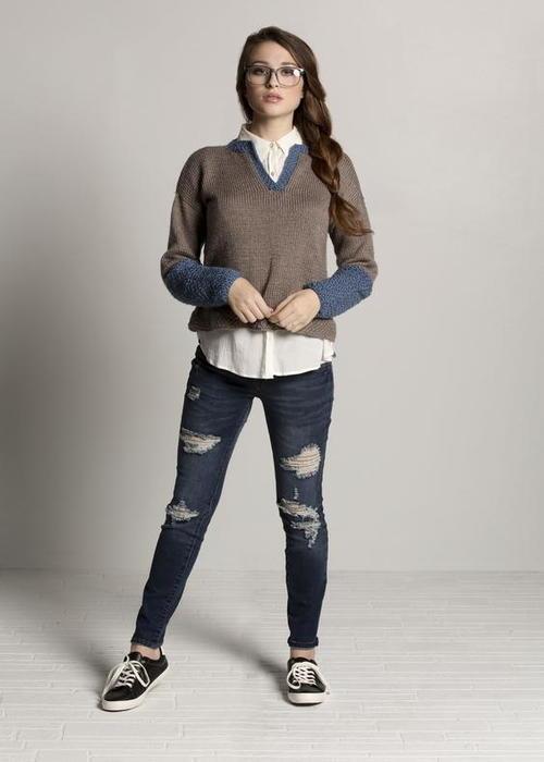 Henley Knit Sweater Pattern |
