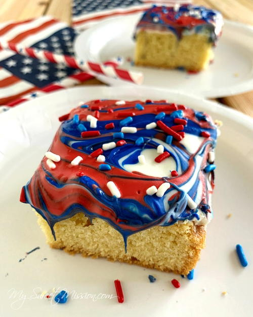 Swirly Red, White & Blue Cookie Bars
