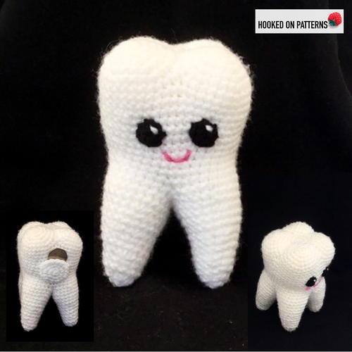Molar the amigurumi tooth - pattern | Amigurumi patrones gratis ... | 500x500