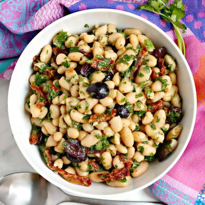 Cannellini Bean Salad with Sun-Dried Tomatoes