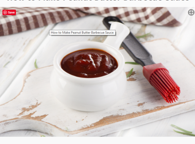 Peanut Butter Barbecue Sauce