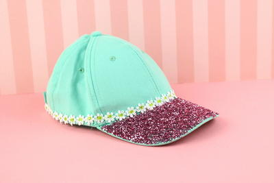 Summer Baseball Hat with Glitter