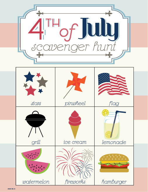 Printable 4th of July Decorations & Activities
