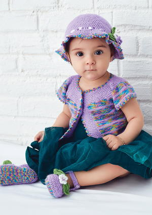 Free Baby Hat, Vest, and Booties Set Knitting Pattern