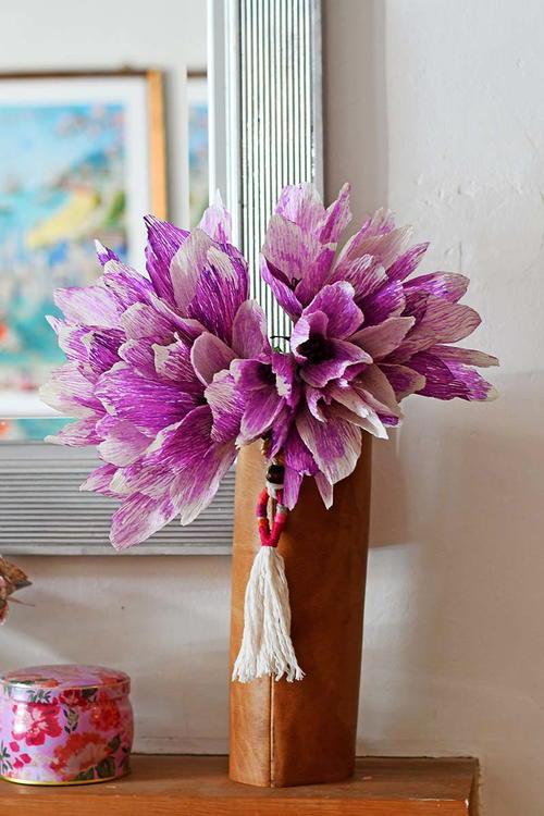 Giant Boho Crepe Paper Flowers Allfreepapercrafts Com