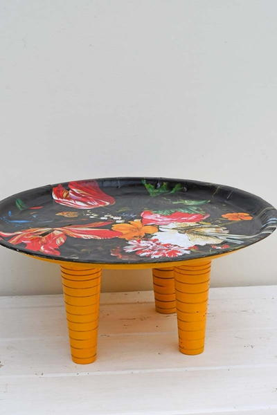 Gorgeous Floral Upcycled Tray Table