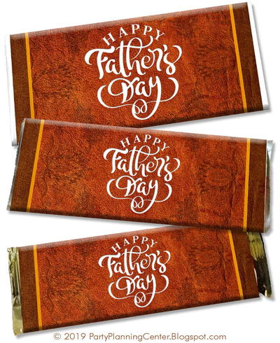 Father's Day DIY Chocolate Bar Wrappers