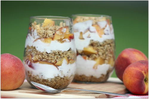 Peaches and Cream Parfait