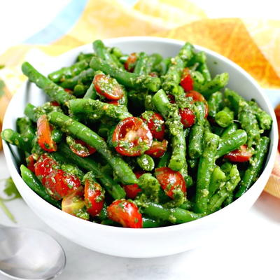 Green Bean Salad with Cilantro Sauce