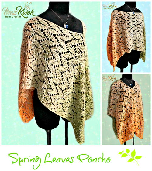 Spring Leaves Poncho