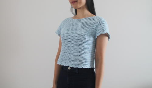 Forget-Me-Not Crochet Top
