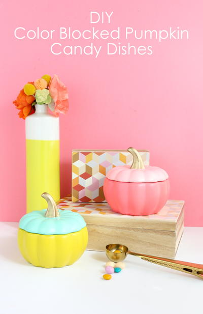 DIY Color Blocked Candy Dishes