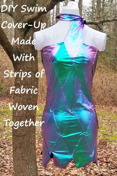 Metallic Dress Made From Strips of Fabric Woven Together
