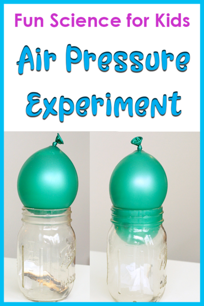 Balloon Air Pressure Science Experiment