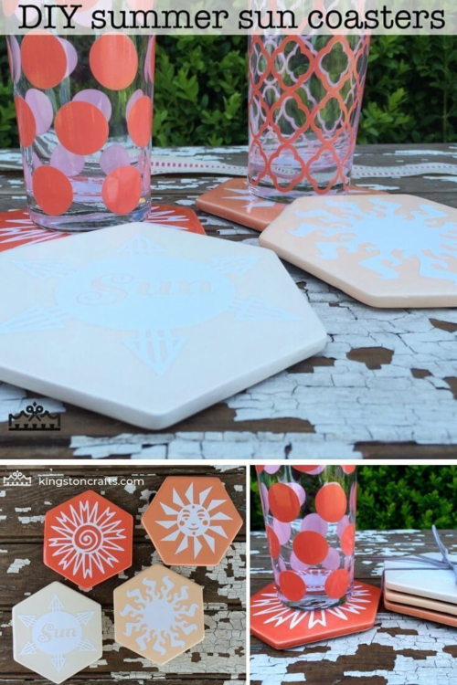 DIY Summer Sun Coasters