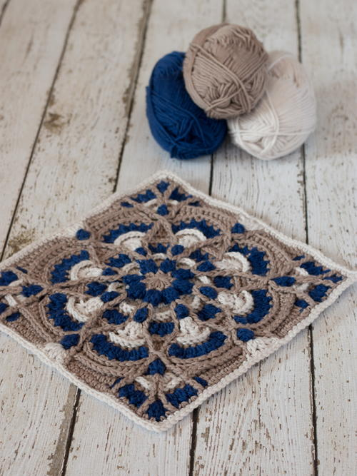 "Perfectly Provincial 12"" Crochet Square Pattern"