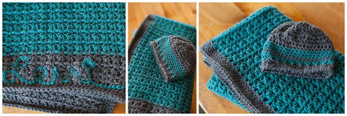 Baby Blanket and Hat