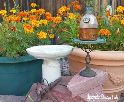 DIY Mini Bird Bath