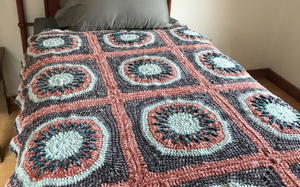 Circles and Squares Crochet Blanket Pattern