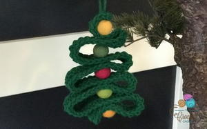Mini Crochet Christmas Tree Ornament