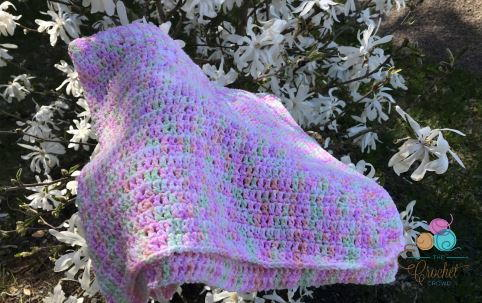 Soft Purple Crochet Baby Afghan