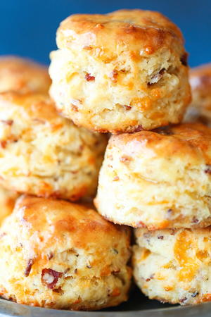 Maple Bacon Cheddar Biscuits