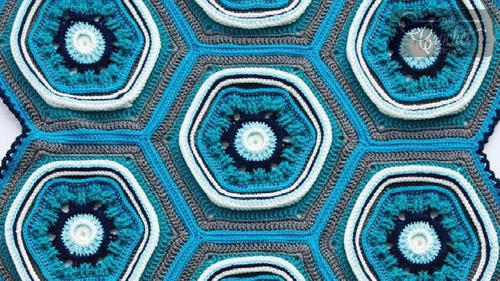 Enchanting Blue Crochet Blanket Pattern