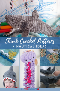10 Shark Crochet Patterns (Free) + Nautical Design Ideas