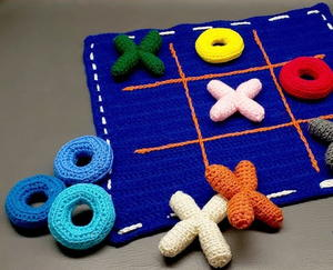 Crochet Tic Tac Toe Game and Tote