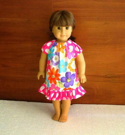 Peasant Dress Pattern for Ag Dolls