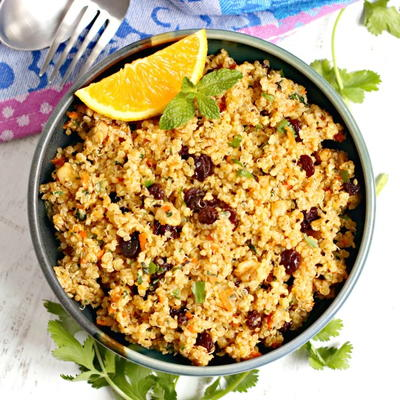 Orange Scented Quinoa Side Dish