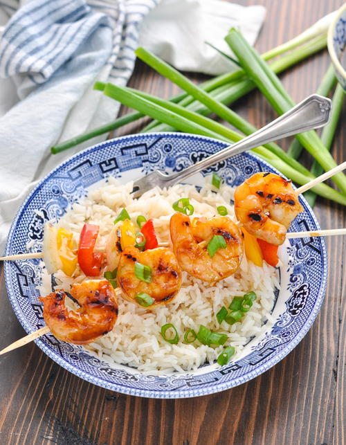 Honey Sesame Grilled Shrimp Skewers