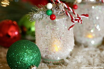 DIY Snowy Lantern Ornament