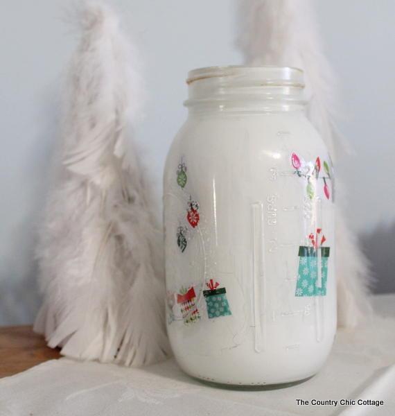 Christmas in a Mason Jar Decoration