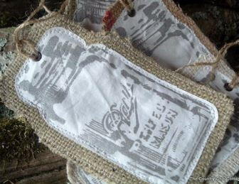 Rustic Burlap Jar Ornament