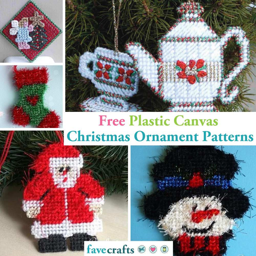 12 Free Plastic Canvas Christmas Ornament Patterns